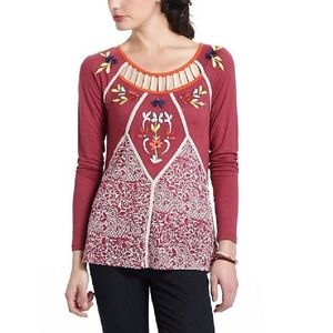 Anthropologie Tops - Anthropologie Ric Rac Jalapa embroidered top M
